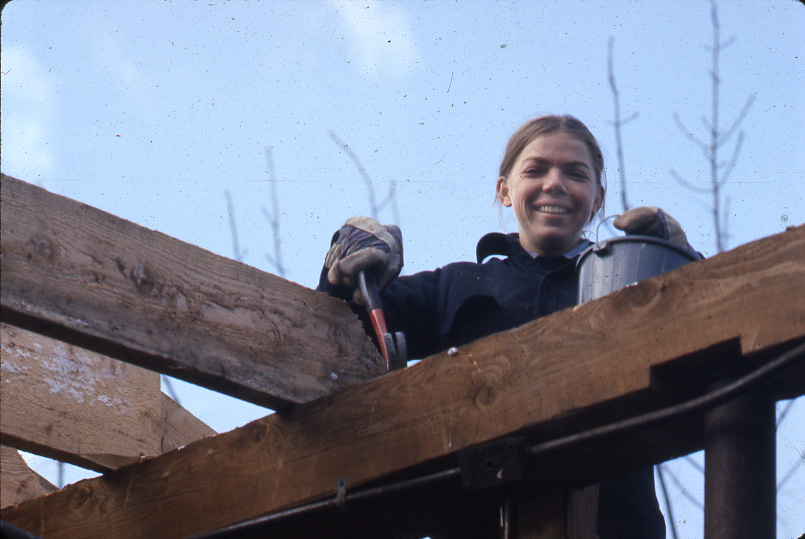 1976 Working on the Cider Mill, Colraine MA